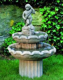 Amalfi Two Tier Outdoor Fountain by Campania International