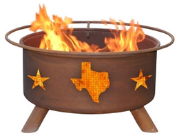 Texas State & Stars Fire Pit