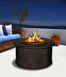 Tradewinds Chat Height Fire Pit Table without Granite Top