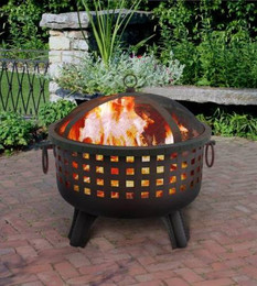 Garden Lights Savannah Fire Pit - Black