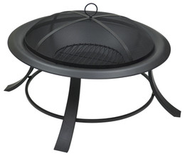 Black Steel Fire Pit