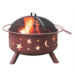 Big Sky Stars & Moons Fire Pit - Georgia Clay