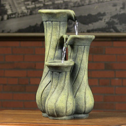Alpine 3 Jars Tabletop Fountain
