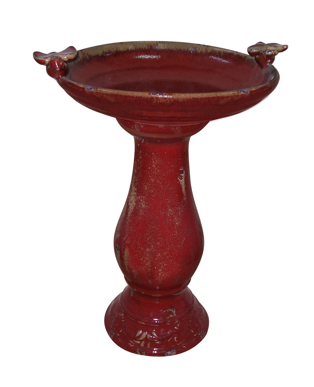 Antique Ceramic Bird Bath Birds Misc Image 380