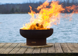 Low Boy Wood Burning Fire Pit by Fire Pit Art