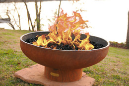 Low Boy Gas Fire Pit by Fire Pit Art