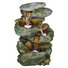 Rainforest Rock Waterfall Fountain with LED Lights