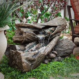 Rainforest Creek Waterfall Fountain with LED Lights