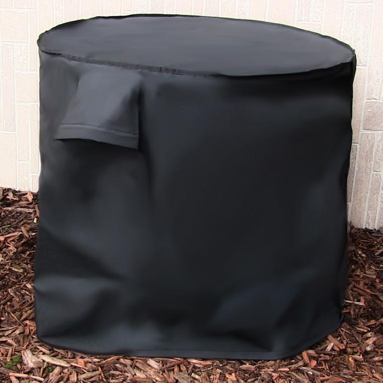 Sunnydaze Round Air Conditioner Cover, Black FI-3430ACR BLK
