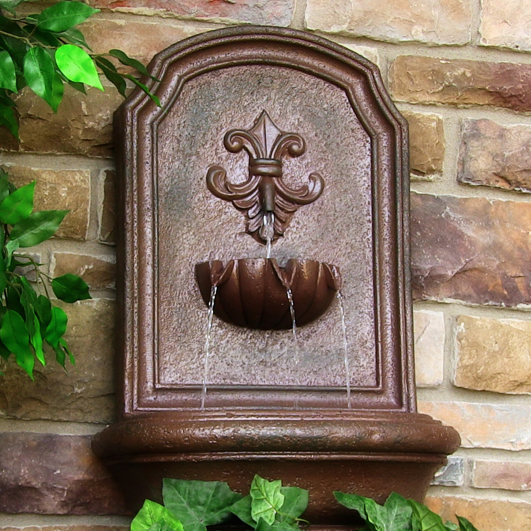 Sunnydaze Noblesse Solar Wall Fountain Weathered Iron Solar Only Feature Picture 291
