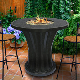 Rodeo Balcony Height Fire Pit Table without Granite Top