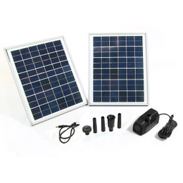 "Sunnydaze Solar Pump and Solar Panel Kit with 118"" Lift"