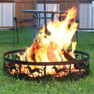 Sunnydaze 36 Quot Running Horse Campfire Ring Fire Pits
