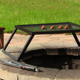 Sunnydaze Portable and Foldable Large Fire Pit Cooking Grill