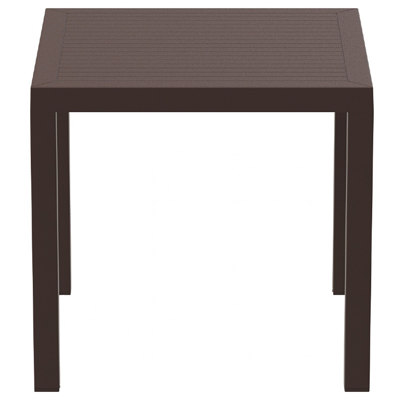 Ares Resin Square Dining Table Brown Photo
