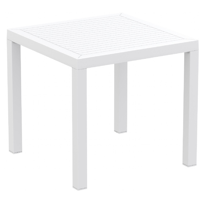Ares Resin Square Dining Table White Image 229