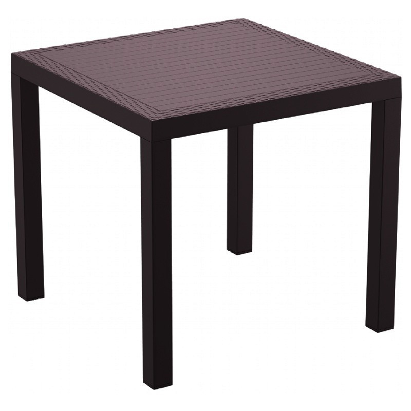Orlando Resin Wickerlook Square Dining Table Brown Picture 231