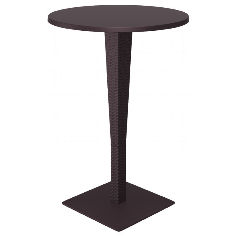 Riva Werzalit Round Top Bar Height Table Brown Picture 163