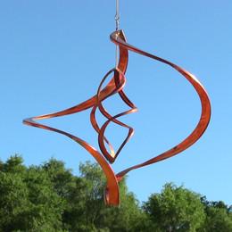 Sunnydaze Orbiter Copper Wind Spinner
