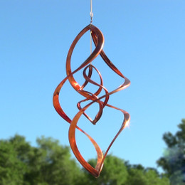 Sunnydaze Double Infinity Copper Wind Spinner