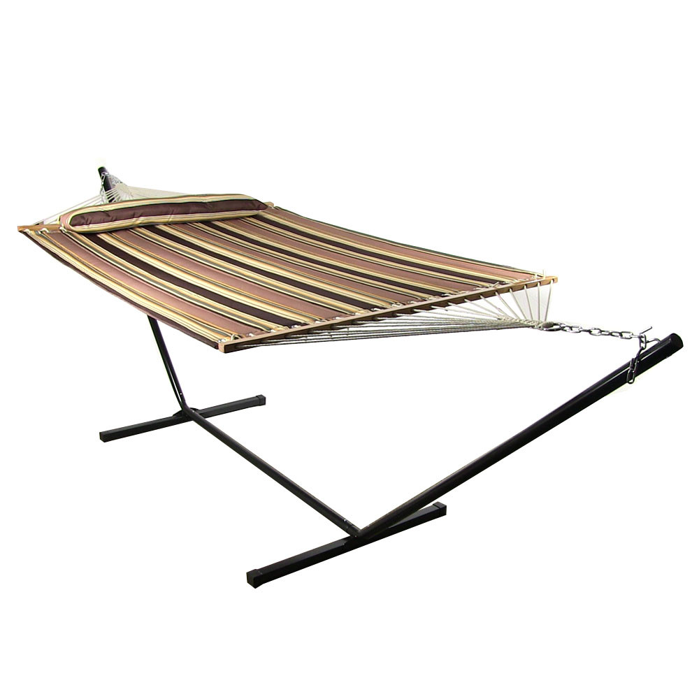 Sunnydaze Sandy Beach Quilted Double Fabric Hammock Spreader Bar Stand Picture 455