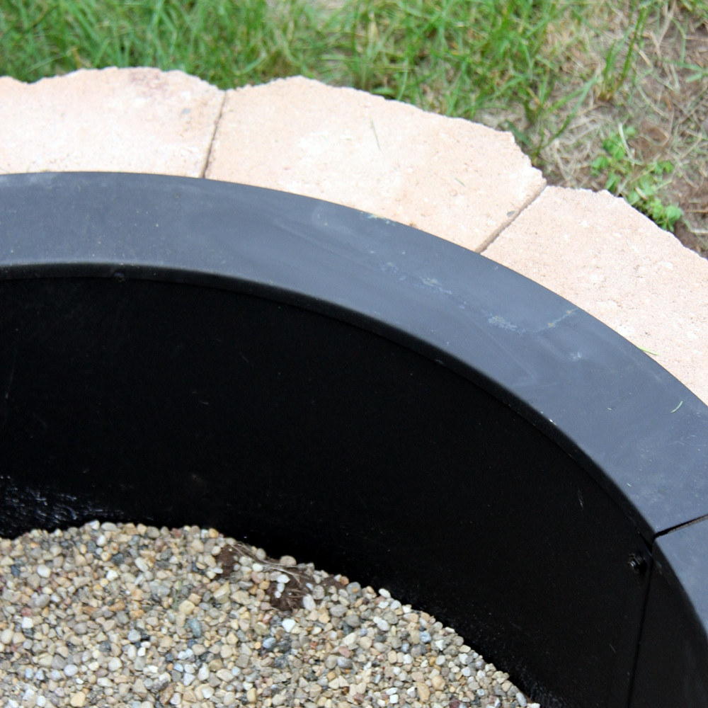 sunnydaze heavy duty fire pit rim make your own in ground fire pit ebay. Black Bedroom Furniture Sets. Home Design Ideas