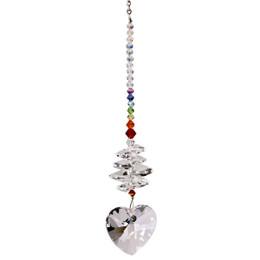 Crystal Brilliance Cascade Rainbow Maker - Heart