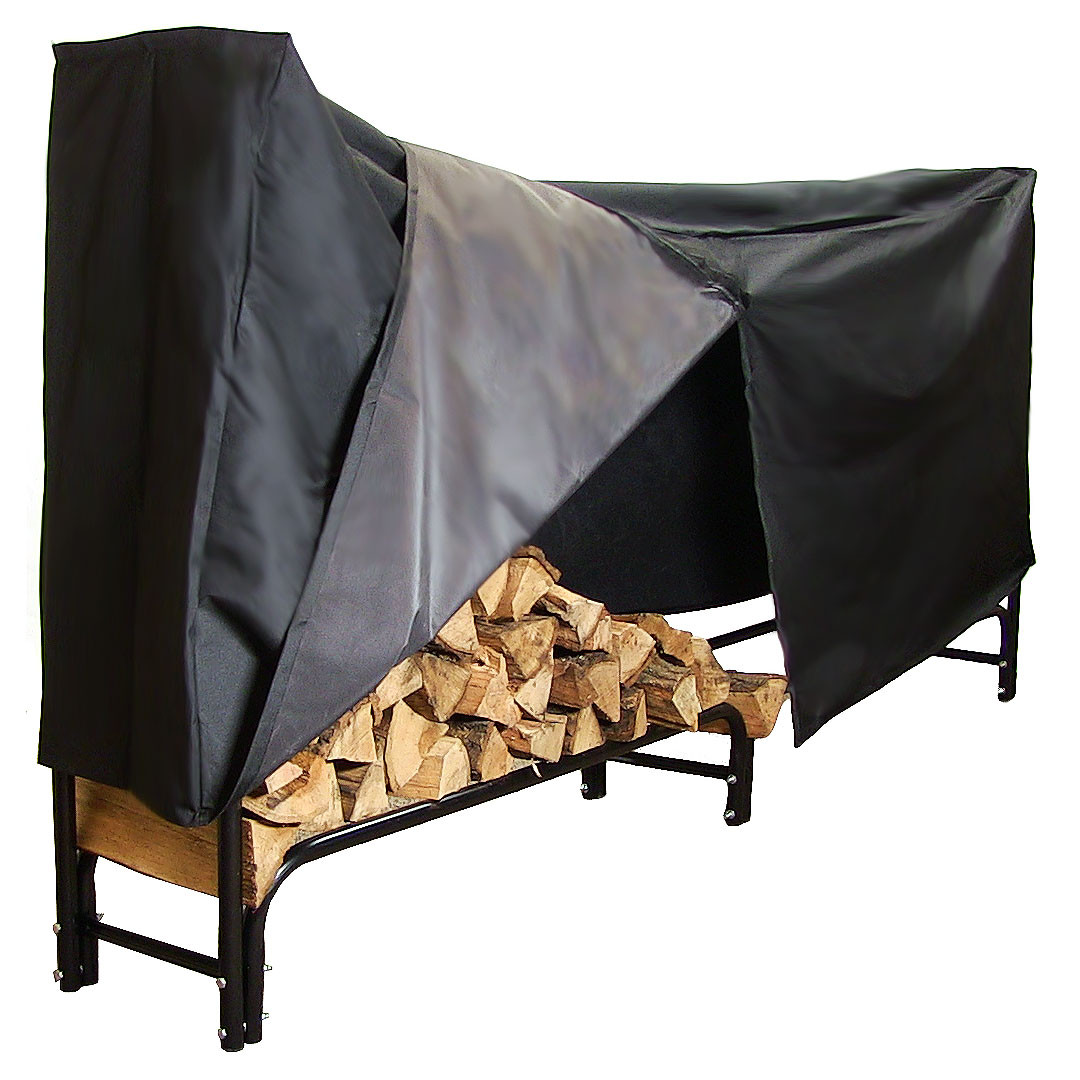 Sunnydaze Foot Firewood Log Rack Log Rack Cover COMBO Picture 628