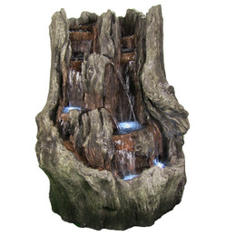 Cascading Mountain Falls Outdoor Water Fountain w/ LED Lights by Sunnydaze Decor