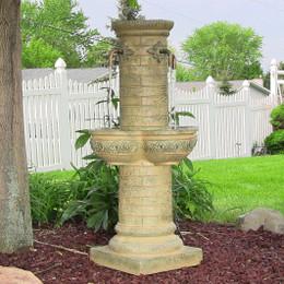 Old World Roman Water Fountain w/ LED Lights by Sunnydaze Decor