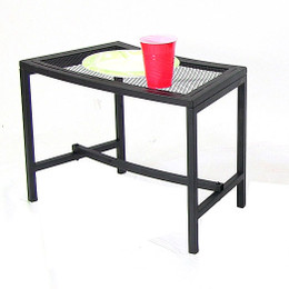 Sunnydaze Black Mesh Patio Side Table