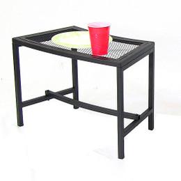 Sunnydaze Black Mesh Patio Side Table