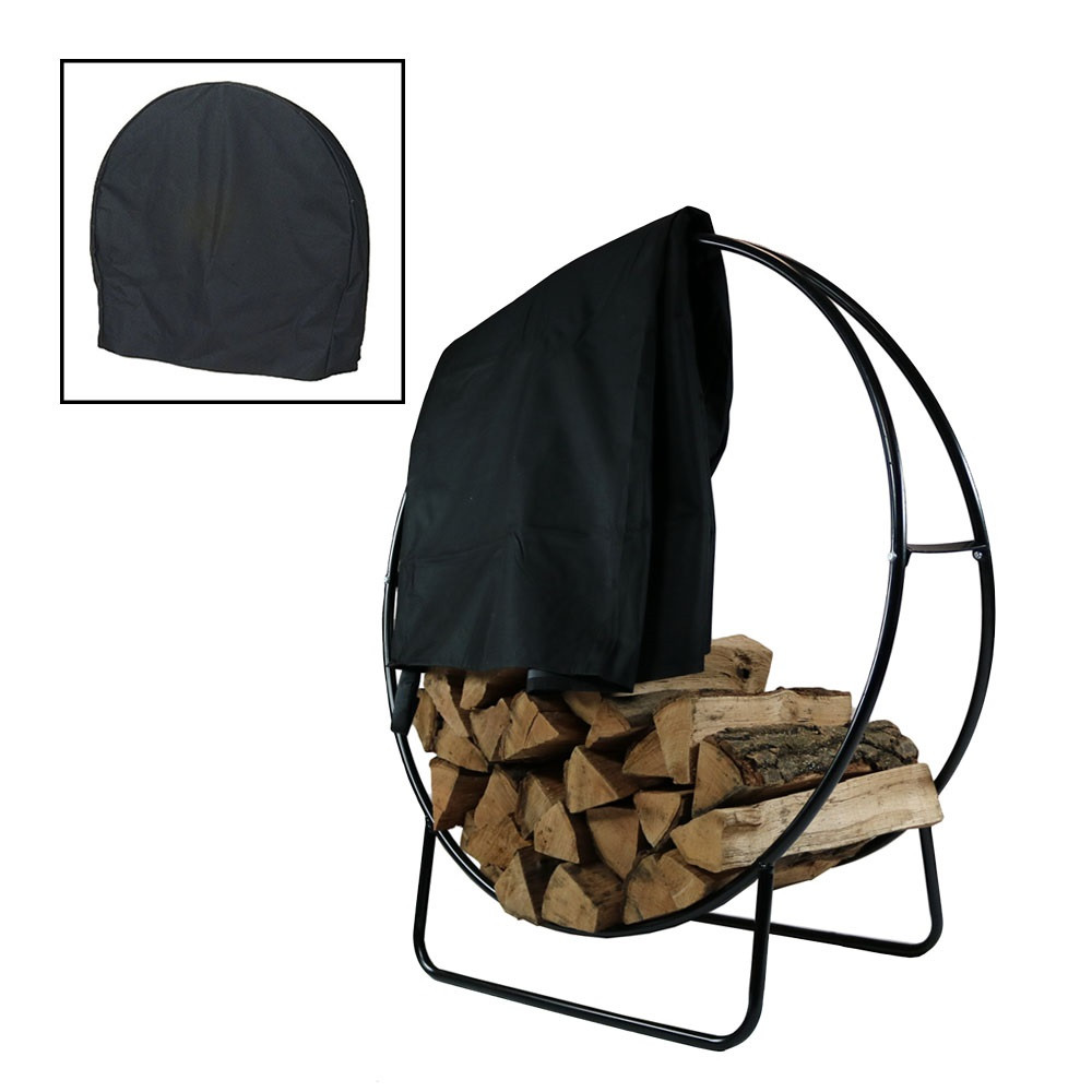Sunnydaze Inch Steel Firewood Log Hoop Cover Picture 618