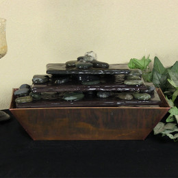 Sunnydaze Tapering Stream Copper Tabletop Fountain