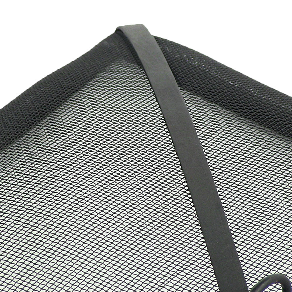 Screen Mesh Sizes : Square fire pit spark screen black durable steel mesh