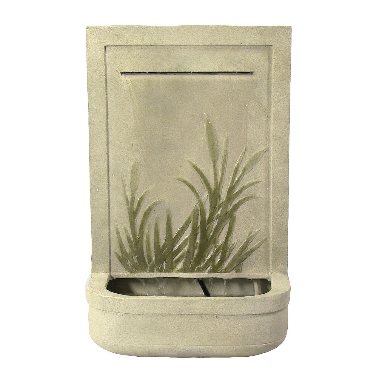 Sunnydaze Modern Cattail Outdoor Wall Fountain Photo