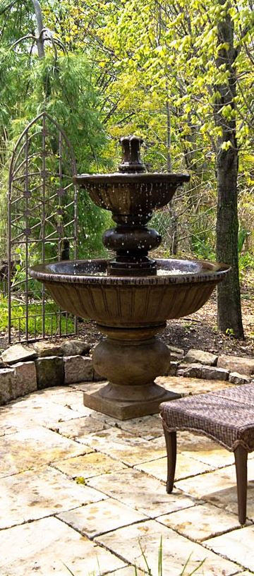Henri Studio Cast Stone Siena Water Fountain Photo