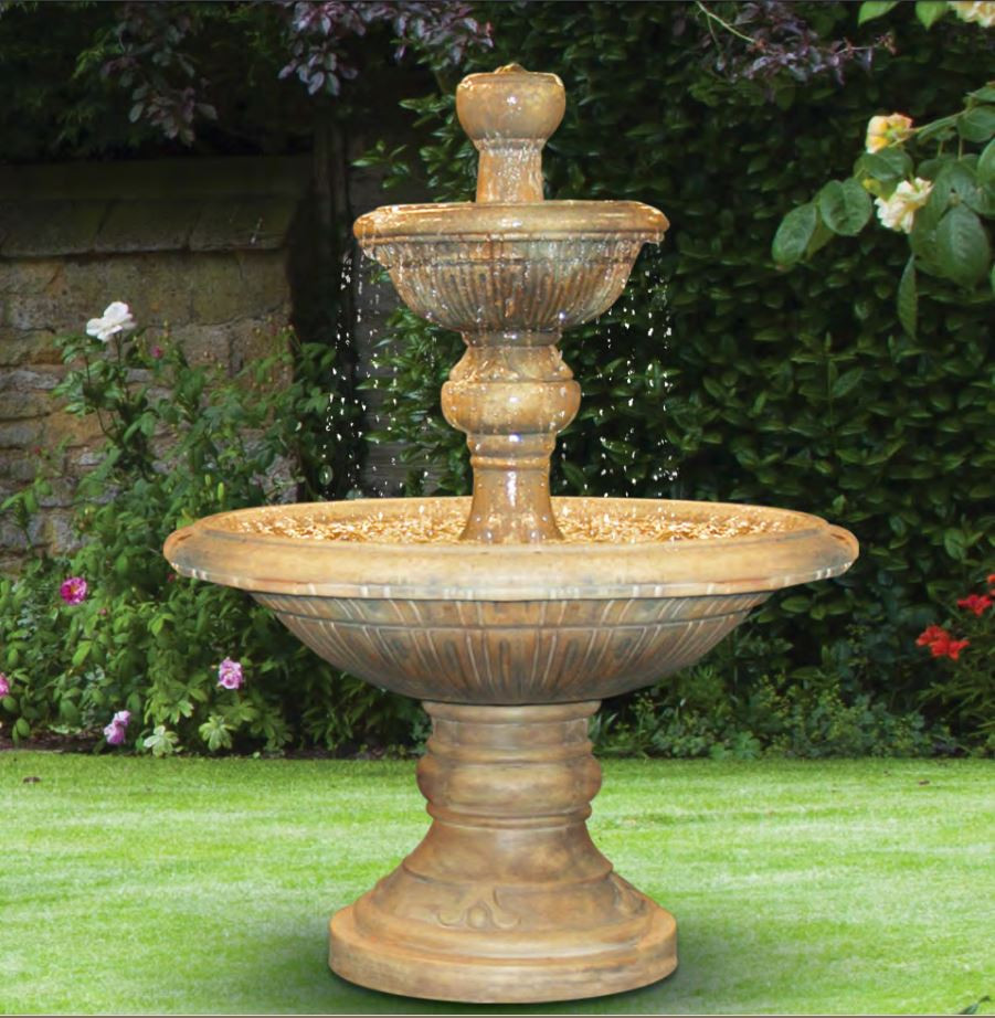 Henri Studio Cast Stone Two Tier Traviata Water Fountain Picture 9