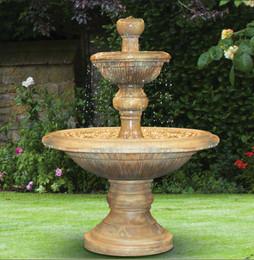 Henri Studio Cast Stone Two-Tier Traviata Water Fountain