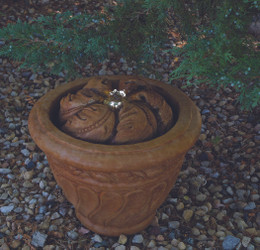 Henri Studio Cast Stone Leaf Patio Bubbler Fountain