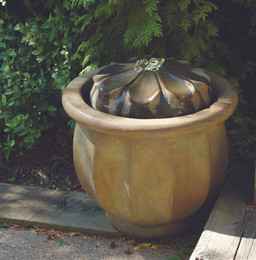 Henri Studio Cast Stone Petals Patio Bubbler Fountain