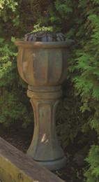 Henri Studio Cast Stone Tall Petals Patio Bubbler Fountain