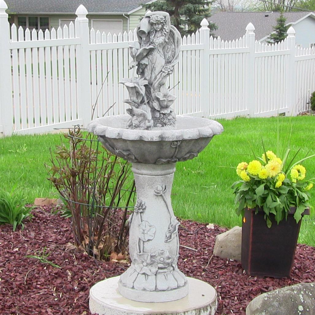 Sunnydaze Fairy Flower Solar On Demand Fountain Sunnydaze Fairy Flower Solar On Picture 170