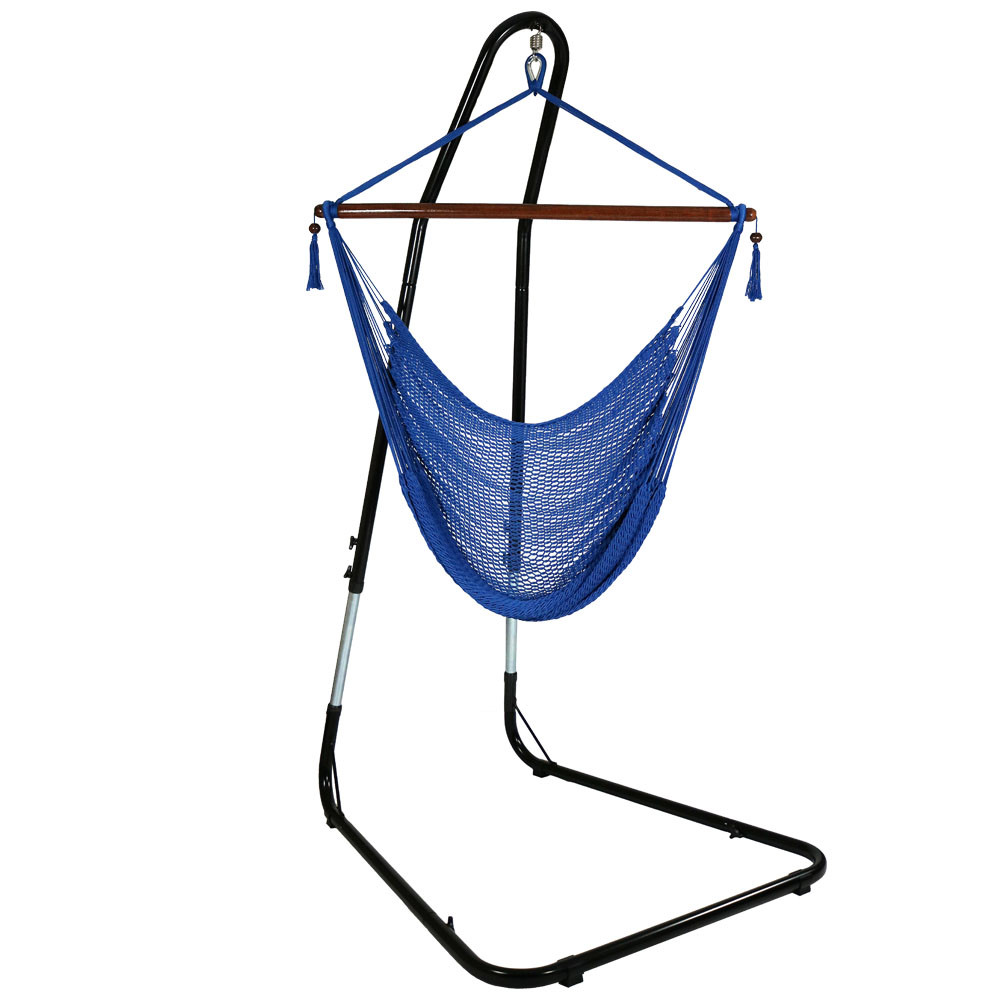 Sunnydaze Hanging Caribbean XL Hammock Chair Adjustable Stand  Picture 411