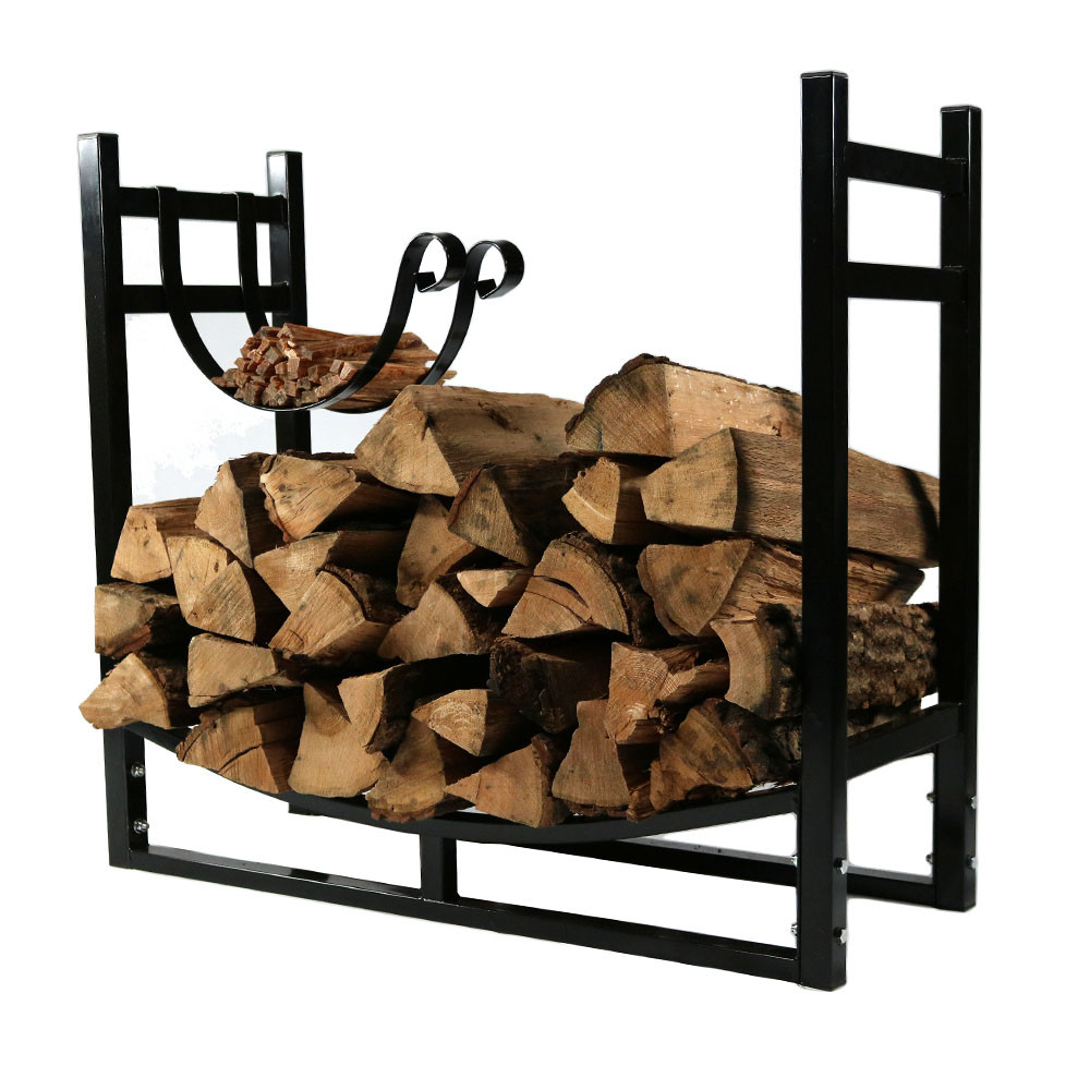 Sunnydaze Firewood Log Rack Kindling Holder WideTall Picture 701