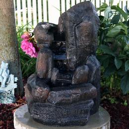 "22"" Rock Falls Solar-on-Demand Water Fountain"