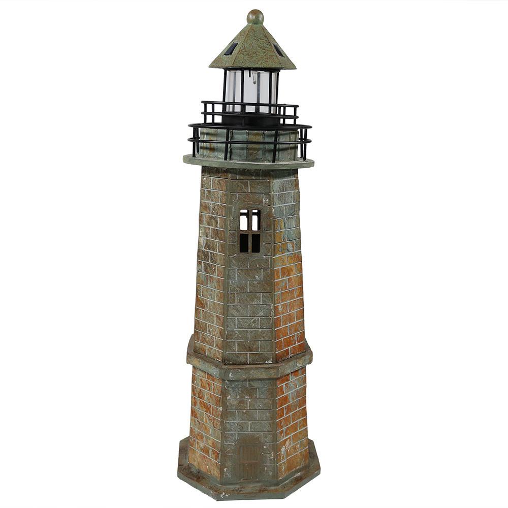 NEW-Outdoor Solar LED Lighthouse Patio Deck Yard Landscape Nautical Decor | eBay