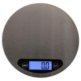 Sunnydaze Round Stainless Steel Digital Kitchen Scale