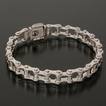 Ladies Bike Chain Bracelet - Sterling Silver