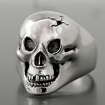 Bad to the Bone Ring - Sterling Silver